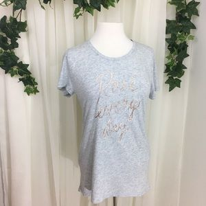 "M GAP Metallic /""Rose Everyday/"" Print T-Shirt For Women in Gray Size XS L"